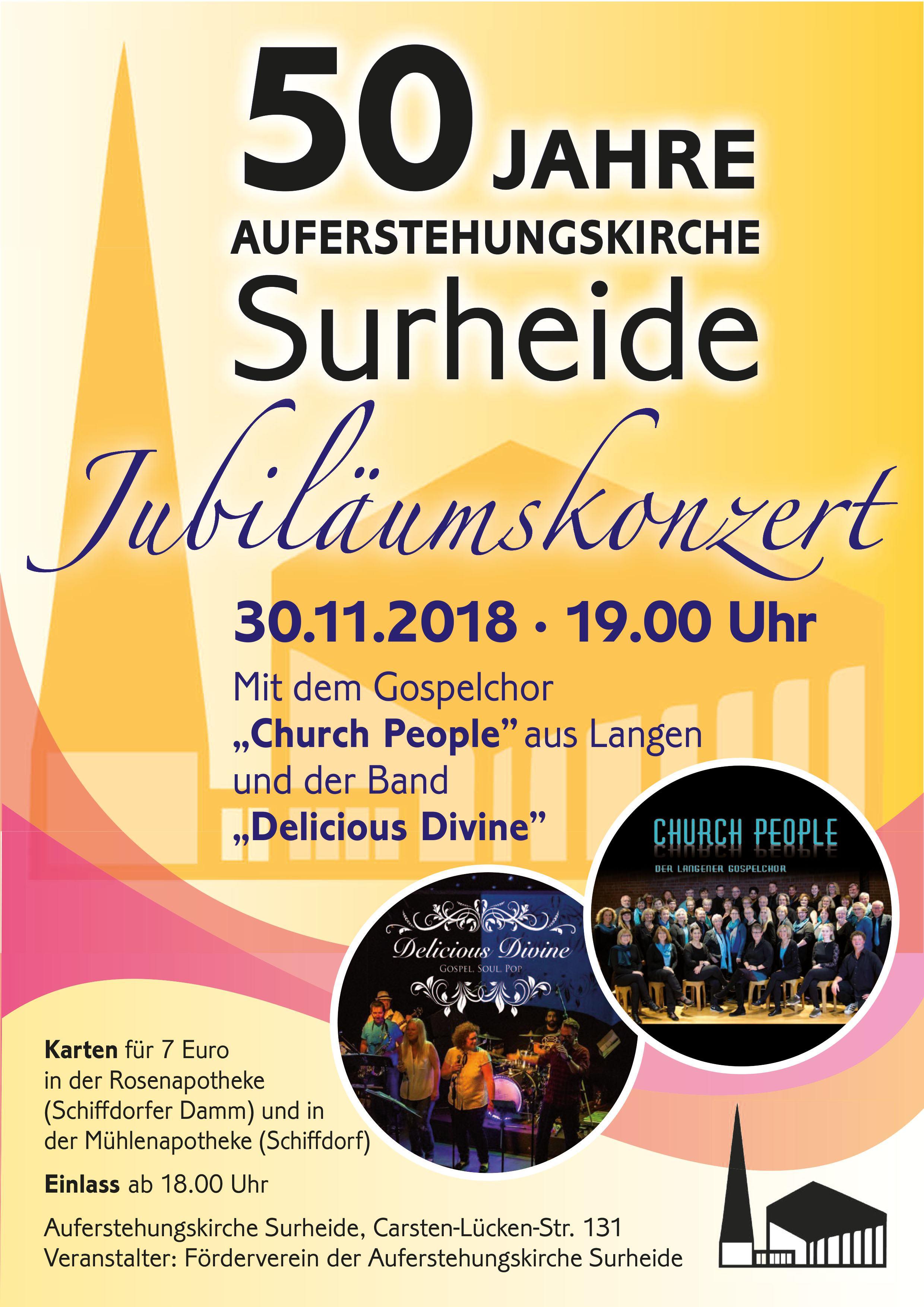 Jubiläumskonzert am 30.11.2018 in der Surheider Kirche